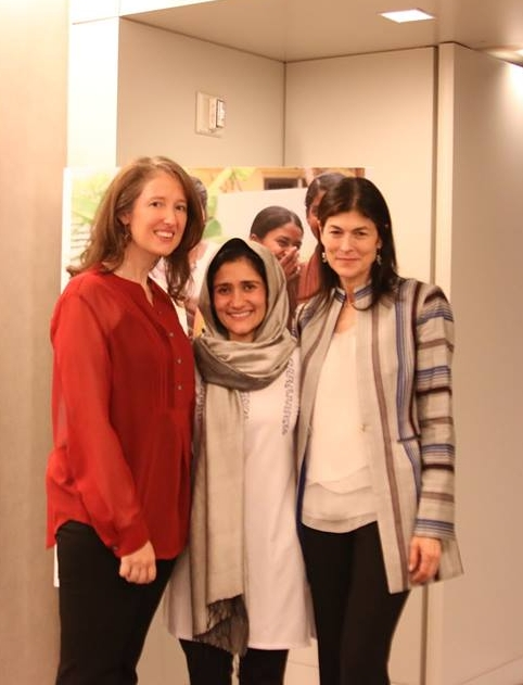 Zoë Timms, Shabana Basij-Rasikh, and Kayce Jennnings Freed.